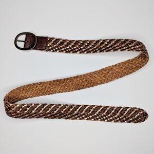 American Eagle Braided Leather Belt NWT